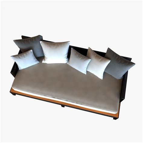 opium couch christian liaigre sofa for holly hunt opium 3d model max