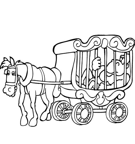 circus coloring pages birthday printable