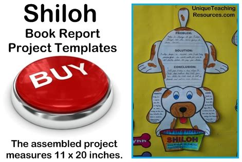 Hiloh Lesson Plans Shaped Book Report Project Templates Shiloh Book Images