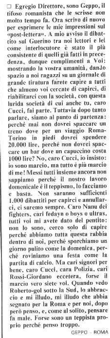 lettere ultras sanprospero 1979 maggio 2014