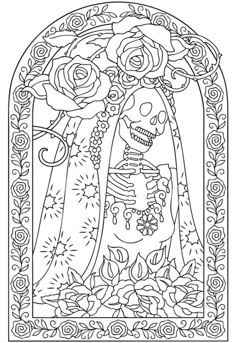 dia de los muertos coloring pages for adults welcome to dover publications