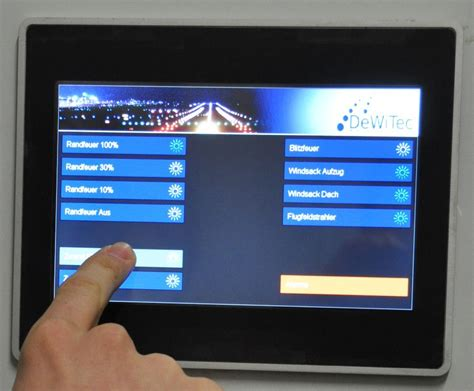 touch screen lighting control panel control touch panel for heliport lighting systems