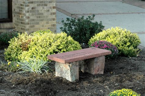 memorial garden benches stone bergen designs let us help you memorialize your loved