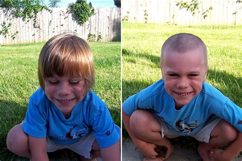 buzz haircut before and after the buzz live laugh learn