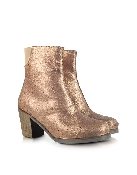 glitter ankle boots mm6 by maison martin margiela glitter ankle boot in