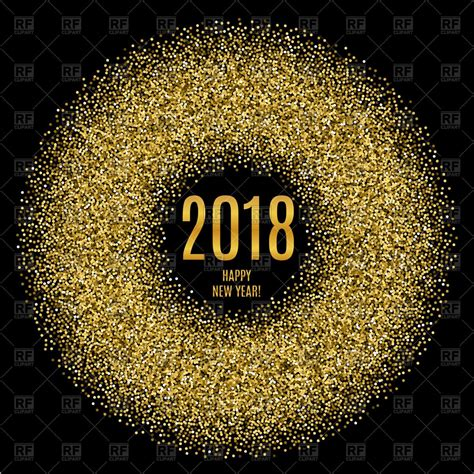 new year graphic images vector image of 2018 happy new year poster with glitter