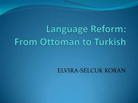 learn ottoman turkish from ottoman to turkish