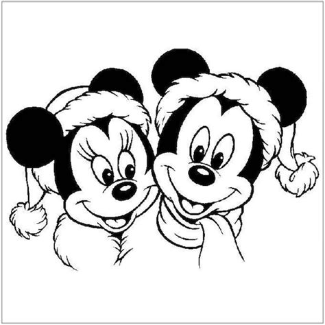 mickey mouse santa coloring pages christmas coloring pages