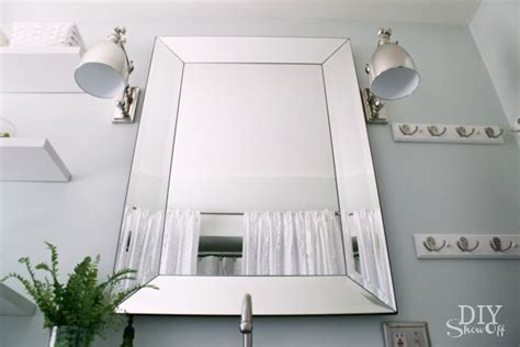 pottery barn bathroom mirror bathroom makeover