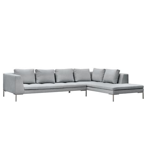 sofa breite ottomane ecksofa i webstoff ottomane davorstehend rechts