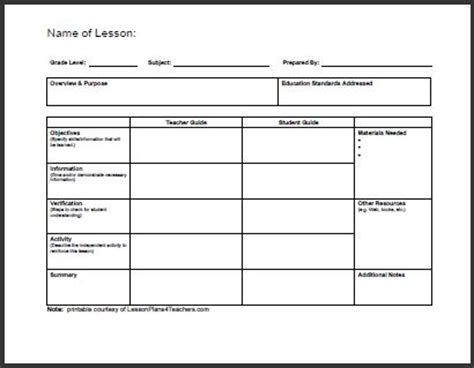 generic lesson plan template generic program college review ebooks