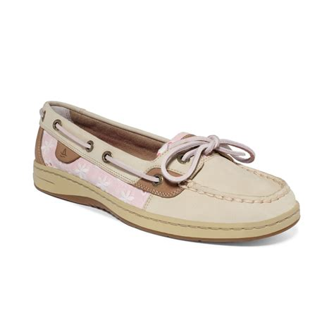 womens sperry top sider angelfish eyelet boat shoe lyst sperry top sider womens angelfish boat shoes in
