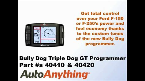 how to uninstall bully dog gt tuner bully dog triple dog gt tuner for the 2011 2012 ford f150