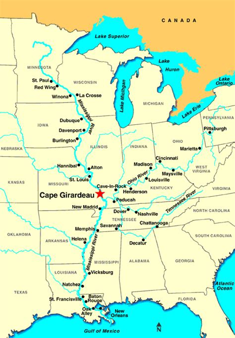 missouri map cape girardeau cape girardeau mo discount cruises last minute cruises