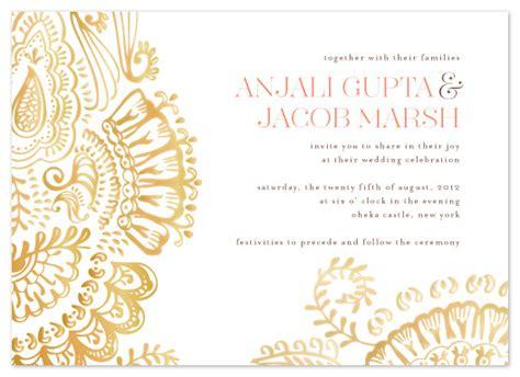 henna design invitation wedding invitations modern mehndi at minted com
