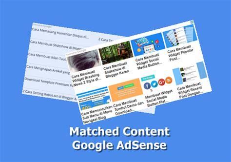 membuat iklan bergambar cara mendapatkan dan membuat iklan matched content dari