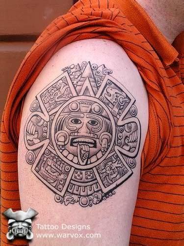 aztec calendar tattoos aztec calendar aztec tattoos aztec mayan inca