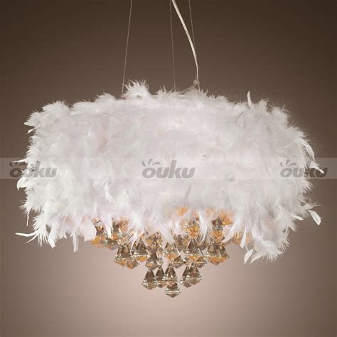 feather lights modern white feather 3 light ceiling light pendant l