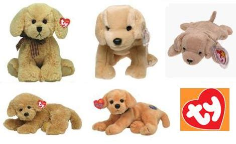 ty golden retriever stuffed golden retrievers plush goldens webkinz puzzles