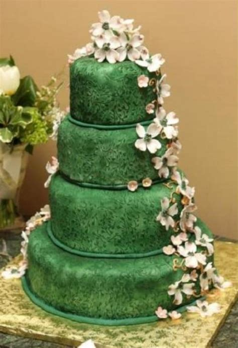 new year green cake 23 gorgeous green wedding cakes to make a statement
