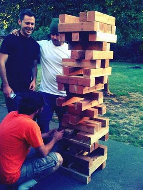 backyard jenga game 3 childhood games super sized for backyard fun