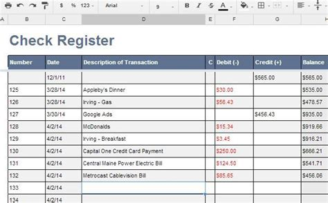 microsoft excel check register template 4 excel checkbook register templates excel xlts