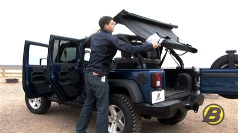 jeep wrangler unlimited sport top off bestop how to get the most from your jeep soft top youtube