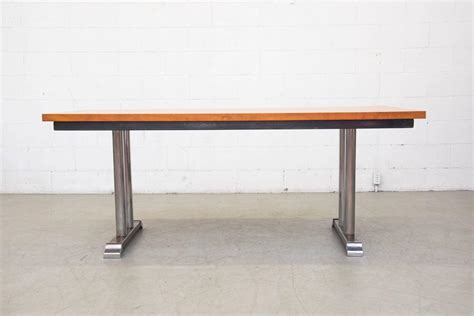 Solid Wood Conference Table Gispen Solid Wood 7208 Conference Table By Ch Hoffmann For Gispen For Sale At 1stdibs