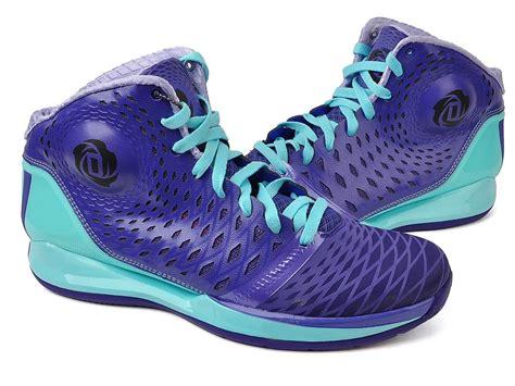 adidas   rose  derrick mens basketball purple blue sneaker shoe  ebay