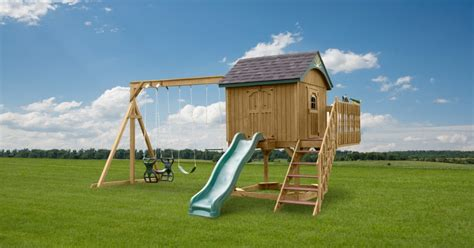 painted wooden swing sets king swings the sailor s retreat wooden swingsets