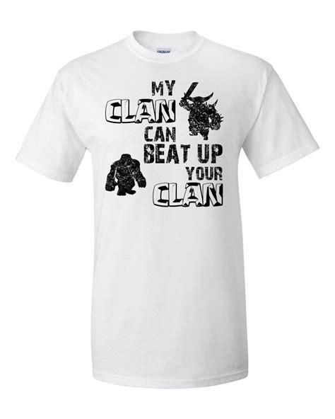 Kaos Clash Royale Clash Royale 15 clash of clans custom screen printed t shirt my clan by