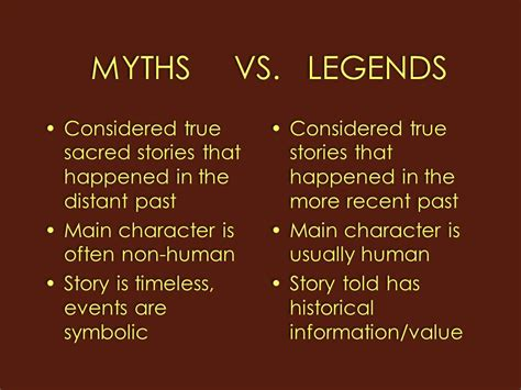 myths legends of myths legends are they the same ppt video online