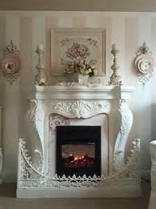 shabby chic mantel decor best 25 shabby chic fireplace ideas on
