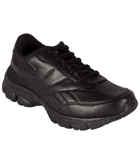 black leather sports shoes bng black synthetic leather sport shoes for buy bng