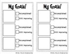 Goal Sheet Template For Students by Mrs Ricca S Kindergarten Goal Setting Checklist Freebie