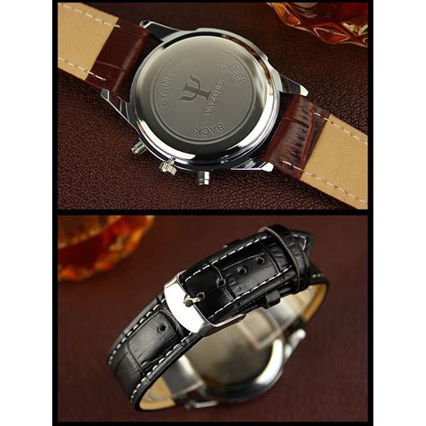 Jam Tangan The Leather Brown Black yazole jam tangan analog 271 black brown jakartanotebook