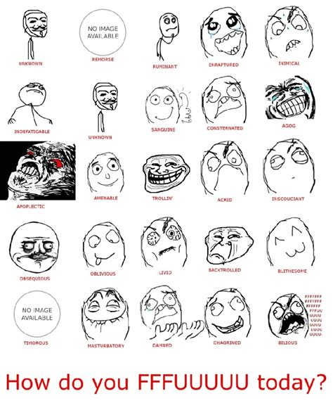 List Of Memes - meme face list 28 images all meme face names memes