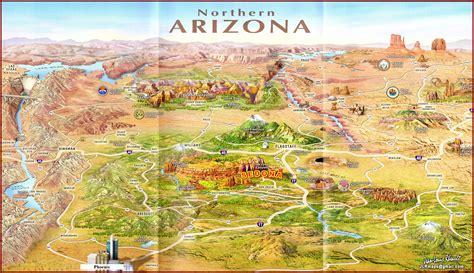 map of northern arizona northern arizona map arizona map