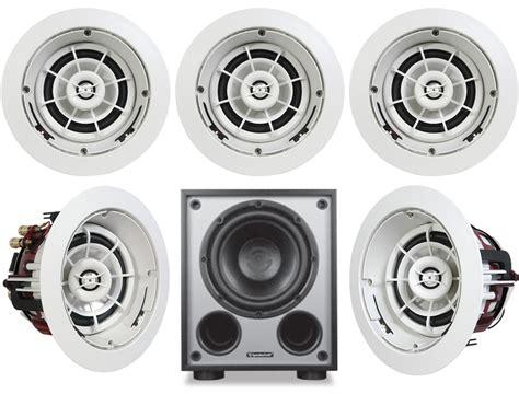 speakercraft 174 aim5 three in ceiling 5 1 speaker system