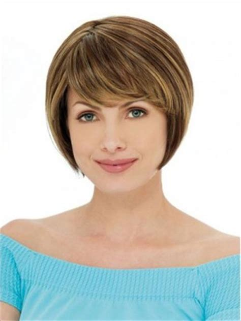Chin length bob with bangs   Hairstyle for women & man