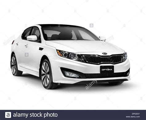 car white background white 2013 kia optima midsize sedan car isolated on white