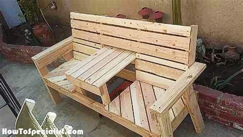 build outdoor bench with back diy outdoor bench with table howtospecialist how to