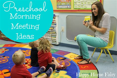 preschool morning meeting ideas happy home