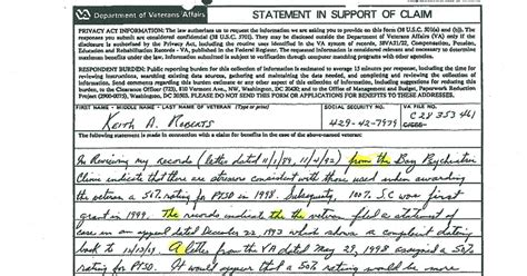 Letter Support Ptsd Claim Mal Contends Va Document Contradicts Us Atty In Jailed Vet