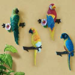 Parrot Decorations Home by Big Size Lovely Resin Bird Crafts Artificial Birds Garden