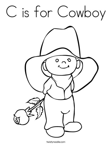 coloring book pages western c is for cowboy coloring page twisty noodle