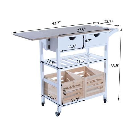 kitchen trolley cart drop leaf table folding dining modern