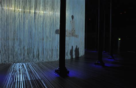 curtain all ron arad s 360 degree installation curtain call opens at