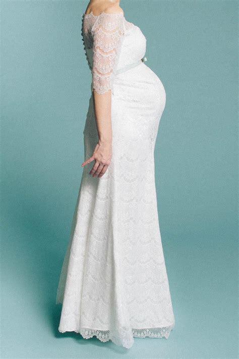 Brautkleid Schwanger by Schwanger Heiraten Lange Brautkleider F 252 R Werdende Mamis