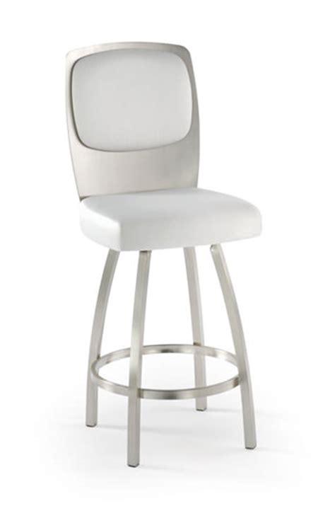 trica grace 30 brushed steel bar stool w swivel trica calvin modern swivel stool w thick seating free